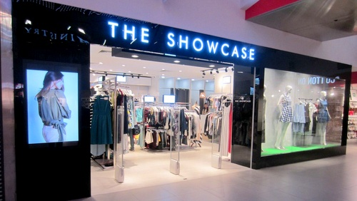The Showcase clothing shop at NEX mall in Singapore.