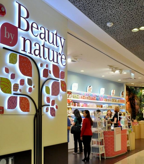 Beauty By Nature cosmetics store ION Orchard Singapore.