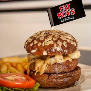 Fatboy's The Burger Bar The Elvis hamburger meal Singapore.