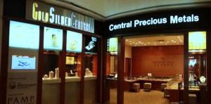 GoldSilver Central precious metals shop Singapore.