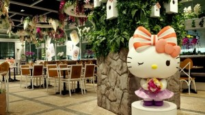 Hello Kitty Orchid Garden Café Singapore Changi Airport T3.