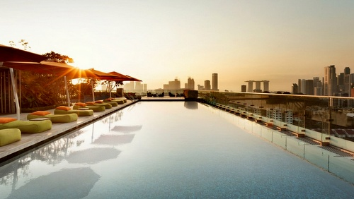Hotel Jen orchardgateway pool Singapore.