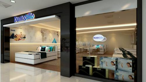Dunlopillo mattress store at The Centrepoint shopping centre in Singapore.