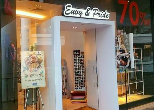 Envy & Pride shoe shop at The Star Vista mall in Singapore.