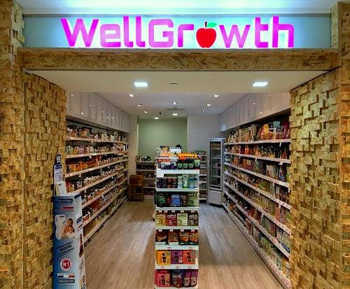WellGrowth health food store at Plaza Singapura mall in Singapore.