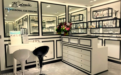 B*dazzle earpiercing service at Raffles City Shopping Centre in Singapore.