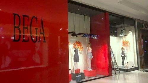 Bega clothing shop in Singapore.