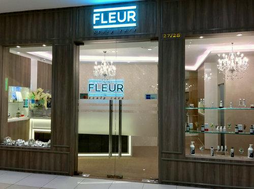 Fleur Scalpcare salon at City Square Mall in Singapore.