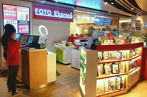 FOTO Express shop at Century Square shopping centre in Singapore.