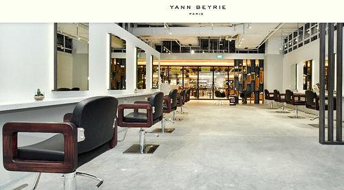 Yann Beyrie Salon interiors at Wisma Atria mall in Singapore.