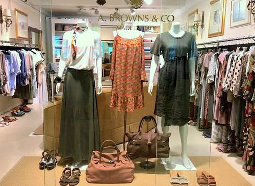 Alfie Browns clothing store in Singapore.