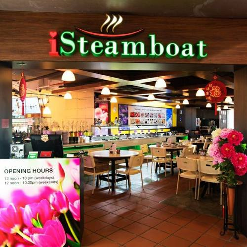 iSteamboat Chinese Restaurant at Marina Square shopping centre in Singapore.