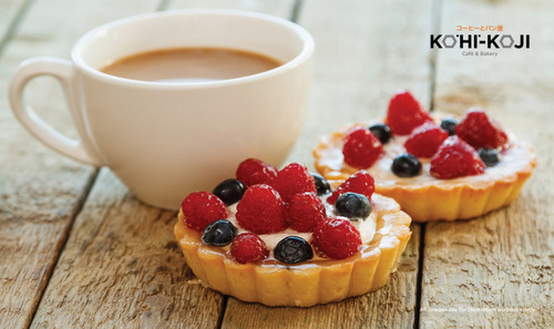 Kohi-Koji cafe's coffee and pastries, available in Singapore.