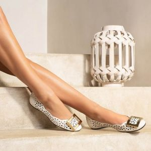 Roger Vivier ballerina shoes, available in Singapore.