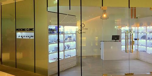 Piercing Clinic piercing studio at Marina Square mall in Singapore.
