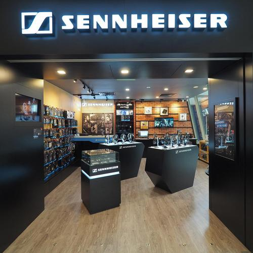 Sennheiser store at Marina Square mall in Singapore.