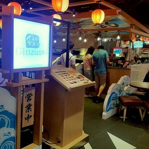 Ginzushi Japanese restaurant at Jurong Point mall in Singapore.