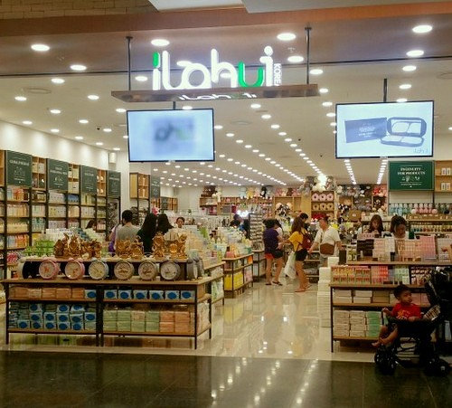 Ilahui Korean lifestyle store at Jurong Point mall in Singapore.