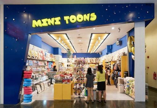 Mini Toons shop at Jurong Point mall in Singapore.