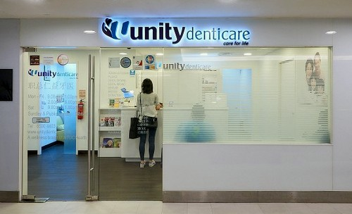 Unity Denticare dental clinic at Jurong Point shopping centre in Singapore.