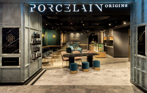 Porcelain Origins spa at Paragon mall in Singapore.