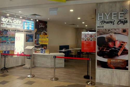 HYFE Travel Café at Tampines 1 shopping centre in Singapore.