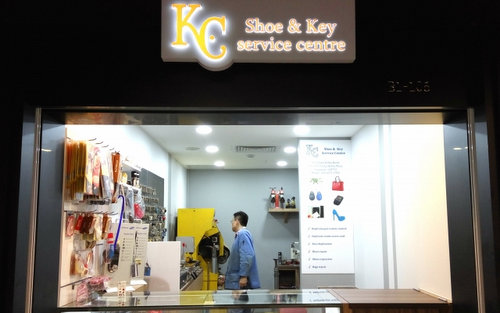 K.C Shoe & Key Service Centre at Tiong Bahru Plaza mall in Singapore.