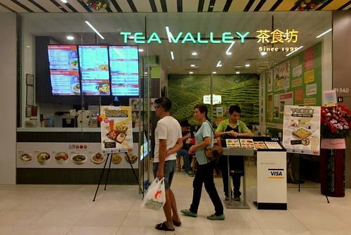 Tea Valley Taiwanese restaurant at Downtown East mall in Singapore.