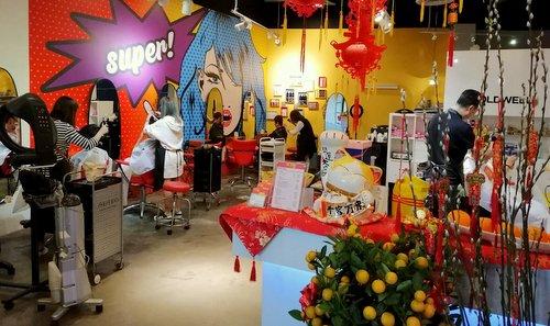 In-Trim Hair salon at Aperia Mall in Singapore.
