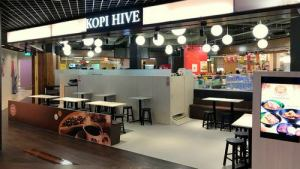 Kopi Hive cafe-restaurant at Anchorpoint mall in Singapore.