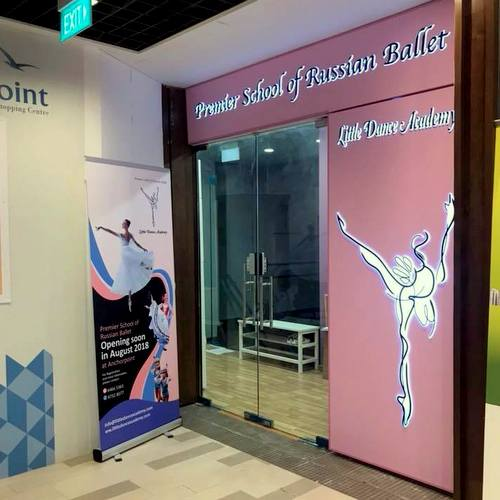 Little Dance Academy dance school at Anchorpoint mall in Singapore.