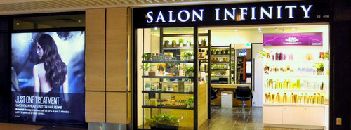 Salon Infinity hair salon at Suntec City mall in Singapore.