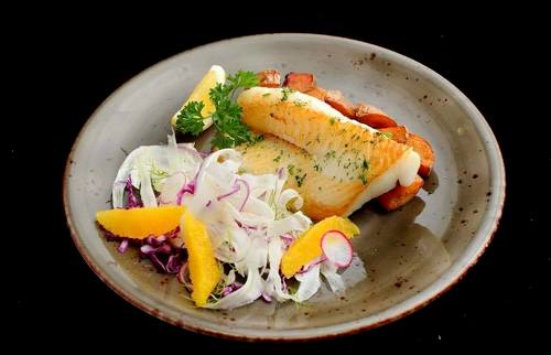 5 Senses Pan-Roasted Norwegian Halibut meal, available in Singapore.