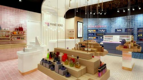 Make Hero beauty shop at Jewel Changi Airport in Singapore.