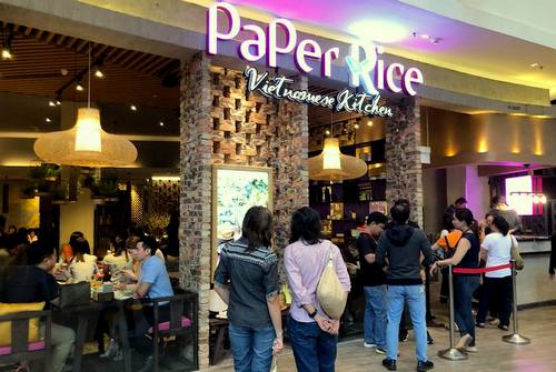 Paper Rice Vietnamese Kitchen restaurant at Changi City Point mall in Singapore.