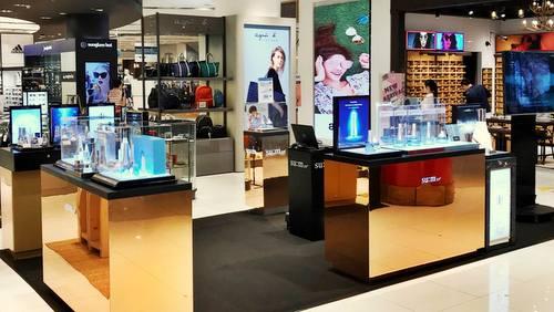 su:m37˚ cosmetics shop at TANGS VivoCity mall in Singapore.