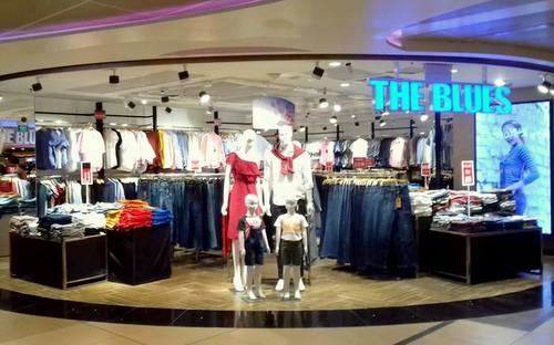 The Blues clothing shop in Changi Airport's Terminal 3 in Singapore.