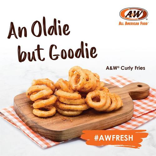 A&W Curly Fries, available in Singapore.