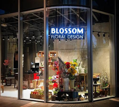 Blossom Floral Design flower shop at Duo Galleria mall in Singapore.