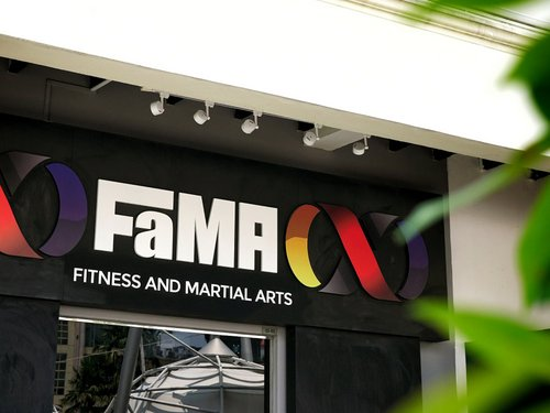 FaMA martial arts & fitness school at Clarke Quay in Singapore.
