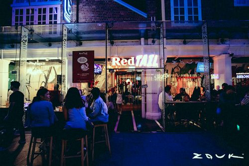 RedTails Bar by Zouk at Clarke Quay in Singapore.