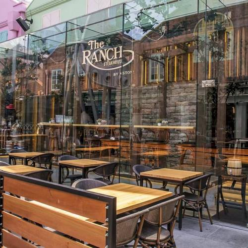 The RANCH Steakhouse by ASTONS restaurant at Clarke Quay in Singapore.