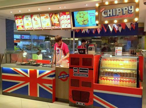 Chippy British take-away restaurant in Singapore.