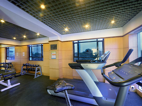 Fitness centre at Quality Hotel Marlow Singapore.