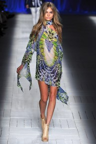 Le Lime light: With Cara Delevinge in Roberto Cavalli, Spring 2013 (Season Trend High Fashion Inspiration)