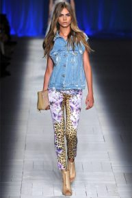 Casual Feline: With Cara Delevinge in Roberto Cavalli, Spring 2013 (Season Trend High Fashion Inspiration)