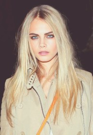 Cara Delevingne-Model of the Season. Hands down, she's edgy, rock and glam all in one. Who else is taking down the fashion world, the way Miss Delevingne is doing it this season? She's definitely a face to watch for.