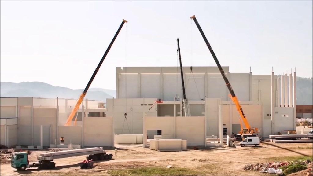 Estructuras Y Cerramientos Prefabricados De Hormigón De Pretersa Prenavisa  Para Aspla