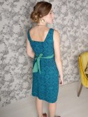 Edgewater dress blue. back