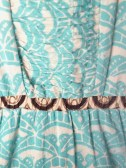 Windy City Romper dress teal. detail